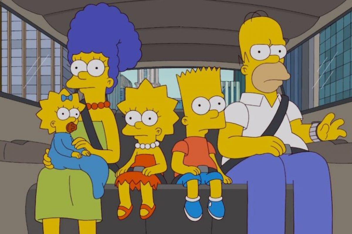 """""""Los Simpsons"""" hacia el programa de tV. Foto:Fox. Imagen Por:"""