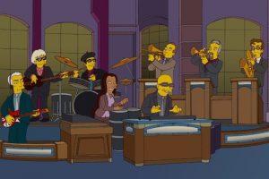 """La banda toca el tema de """"Los Simpsons"""". Foto:Fox. Imagen Por:"""