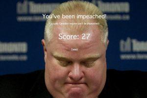 Al perder, Rob Ford es sometido a un juicio político Foto:Captura de pantalla / robfordthegame.com. Imagen Por: