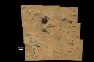 Foto del Curiosity que muestra evidencia sedimentaria de un pequeño arroyo Foto:Getty Images. Imagen Por: