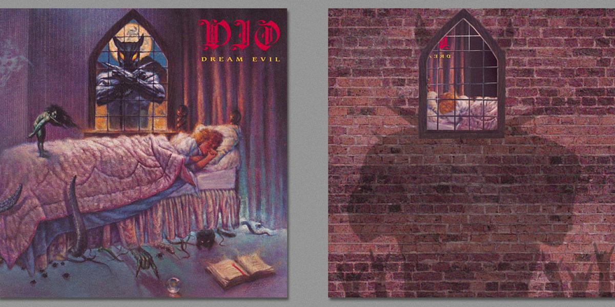 Famosas carátulas de discos vistas desde atrás