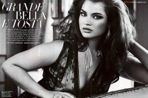 NO todas las modelos son ultradelgadas. Imponer solo un modelo de belleza está out. Foto: Vogue Italia. Imagen Por: