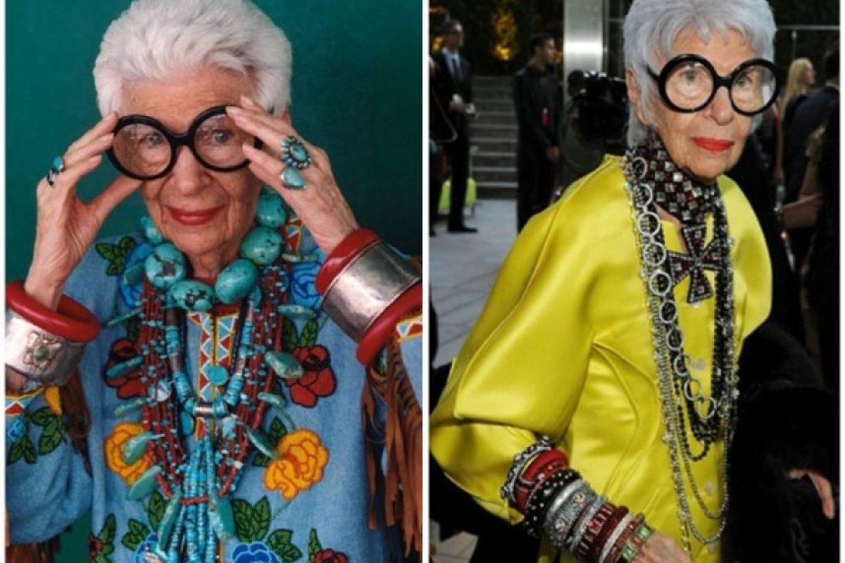 La moda te da el lujo de ser tan loco y excéntrico como quieras. Vean a Iris Apfel. Foto: Getty. Imagen Por: