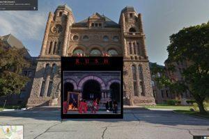 La banda canadiende Rush inspiró su portada de disco Moving Pictures en el Congreso de Toronto Foto:Google Stret View-The Guardian. Imagen Por: