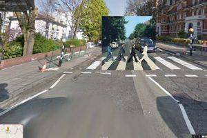 La calle Abbey Road es tan popular por esta portada que incluso tiene su propia webcam que transmite las 24 horas del día Foto:Google Stret View-The Guardian. Imagen Por: