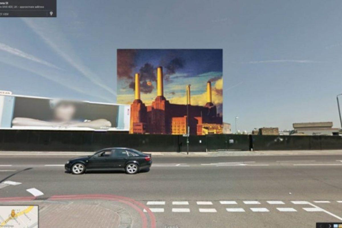 La portada del disco Animals de Pink Floyd fue tomada de una estación eléctrica en el distrito de Wandsworth en Londres Foto:Google Stret View-The Guardian. Imagen Por: