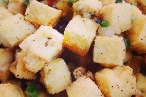 4.- Milanesas de tofu: cubierta previamente en salsa de soja y orégano o provenzal Foto:Tumblr. Imagen Por: