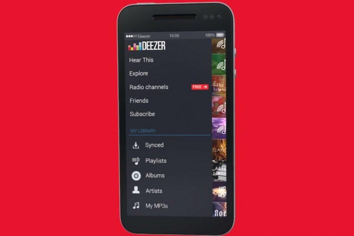 El servicio de música en streaming se actualiza. Foto:Deezer. Imagen Por: