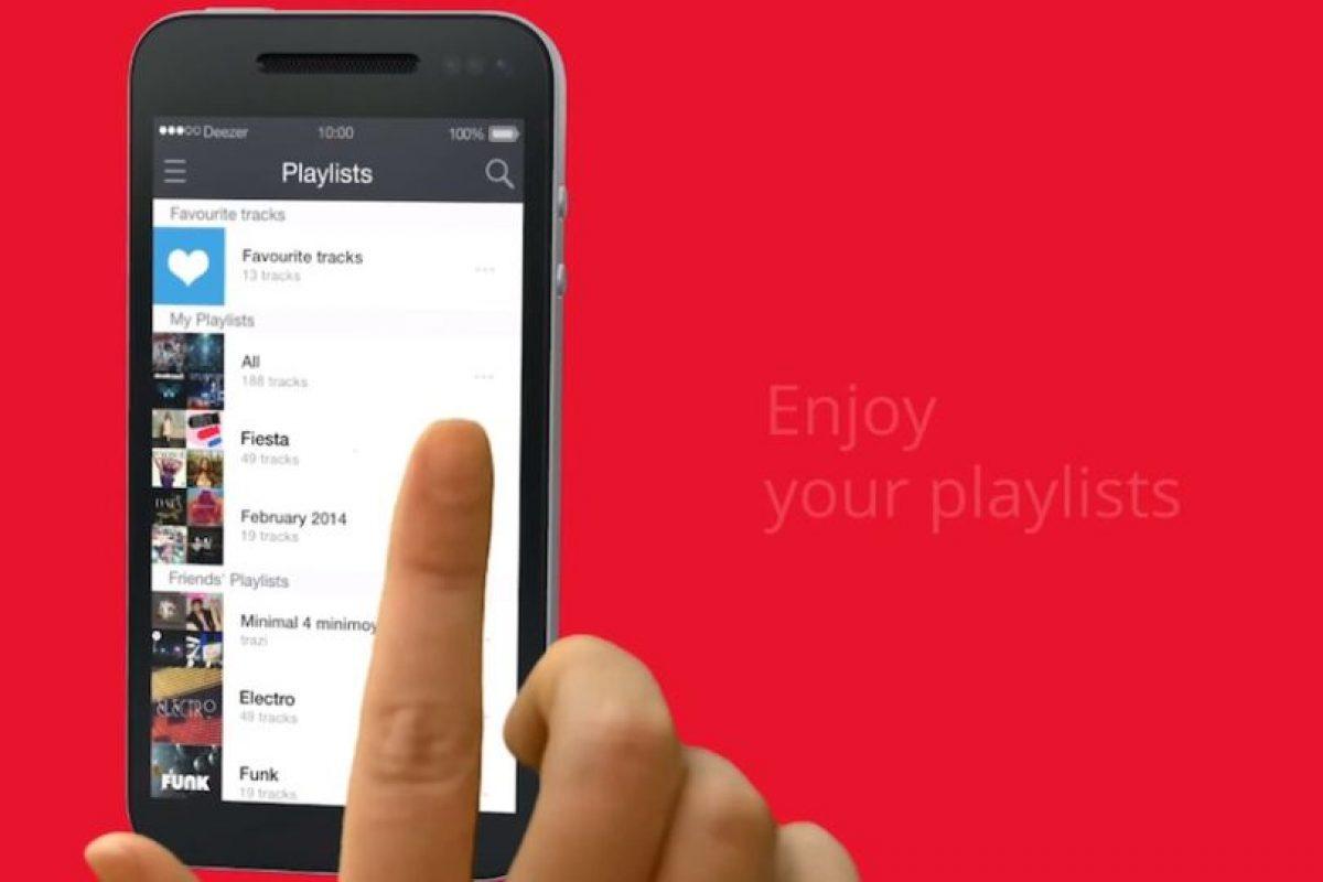 Pueden ver Playlist preestablecidos o propios. Foto:Deezer. Imagen Por: