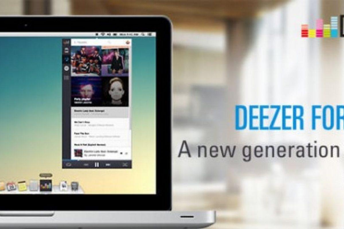 Deezer para Mac ya está disponible. Foto:Deezer. Imagen Por: