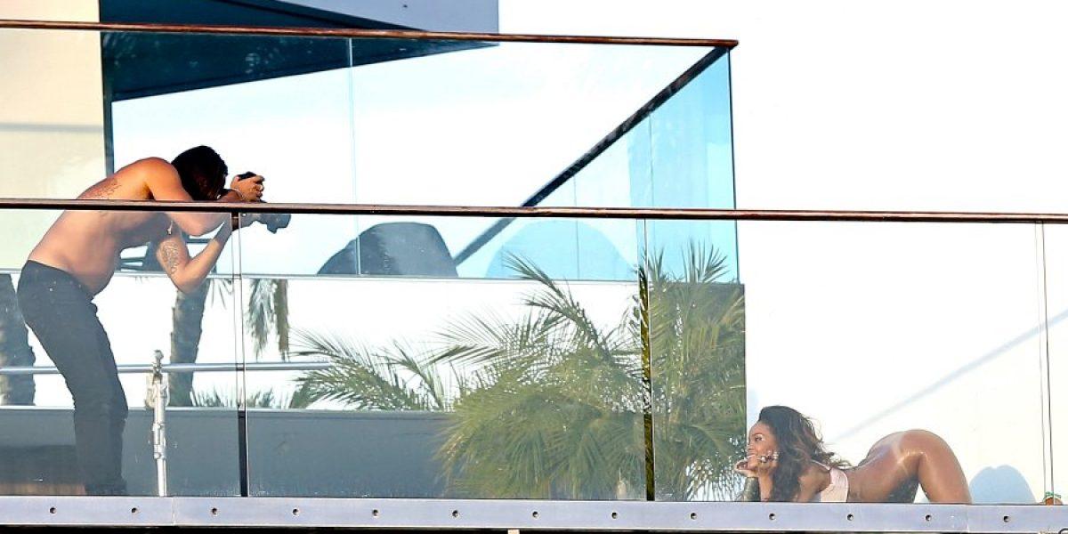 Rihanna realiza sesión de fotos