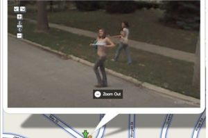 Exhibicionismo. Foto: Google StreetView. Imagen Por: