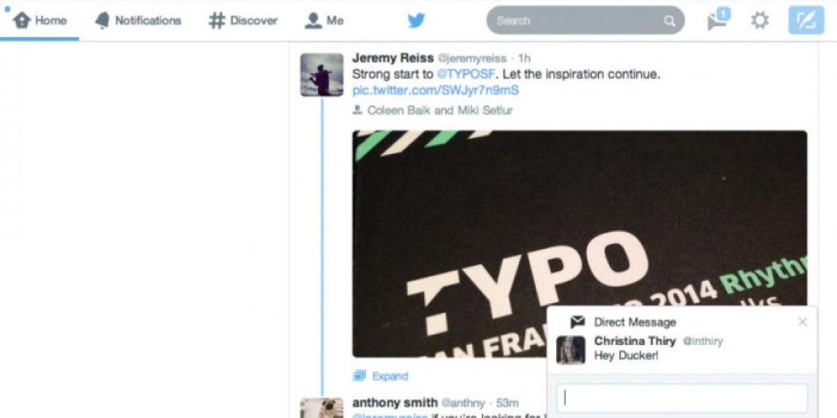 Twitter para web tendrá notificaciones