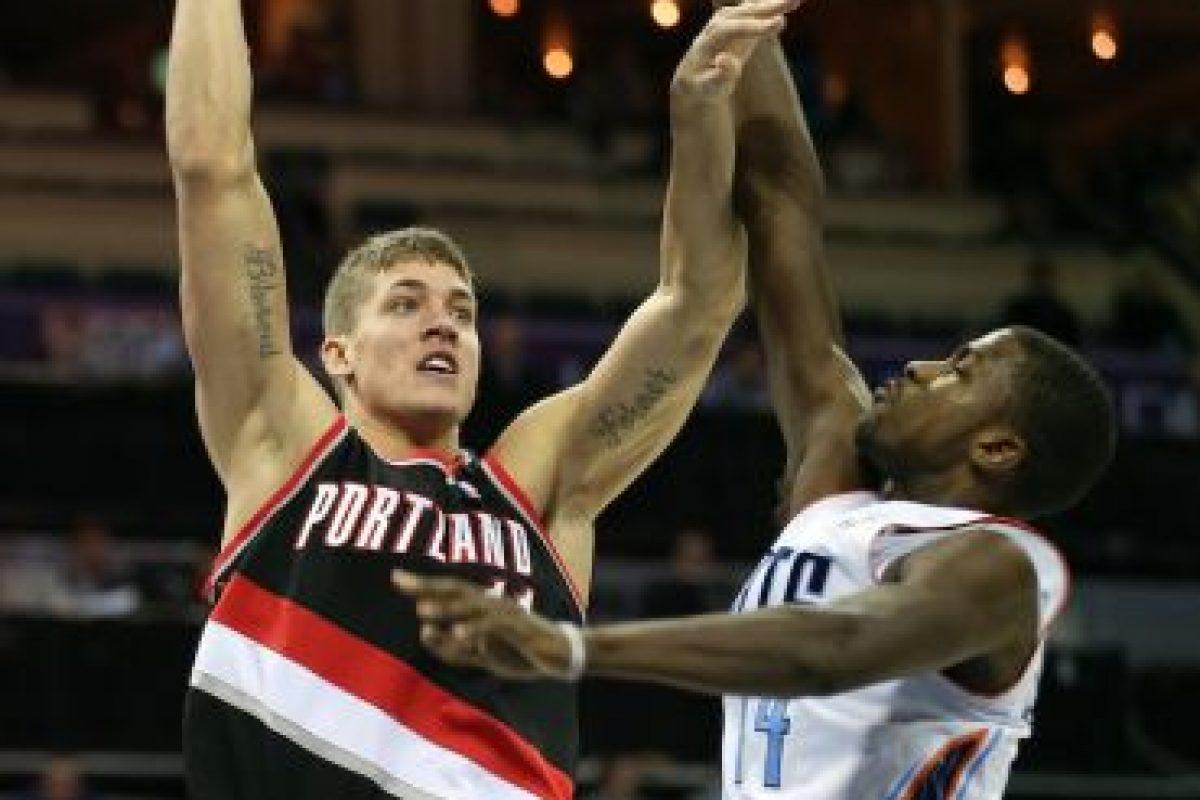 Meyers Leonard mide 2.16 m Foto:Getty. Imagen Por: