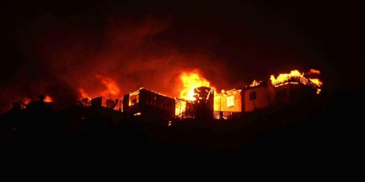 Fotos: Estas son todas las imágenes del incendio en Chile