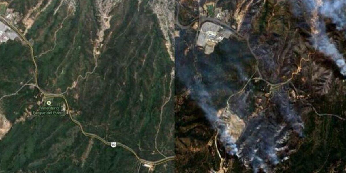 Fach define en una imagen el antes y después de Valparaíso tras el incendio
