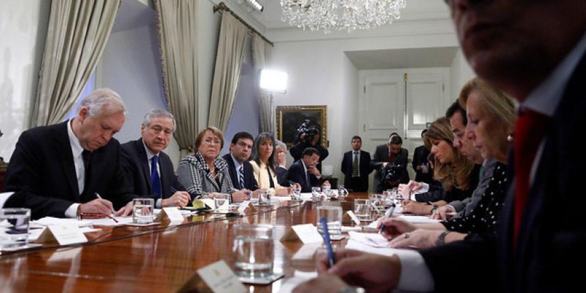 Galería: Bachelet se reúne con ministros en La Moneda