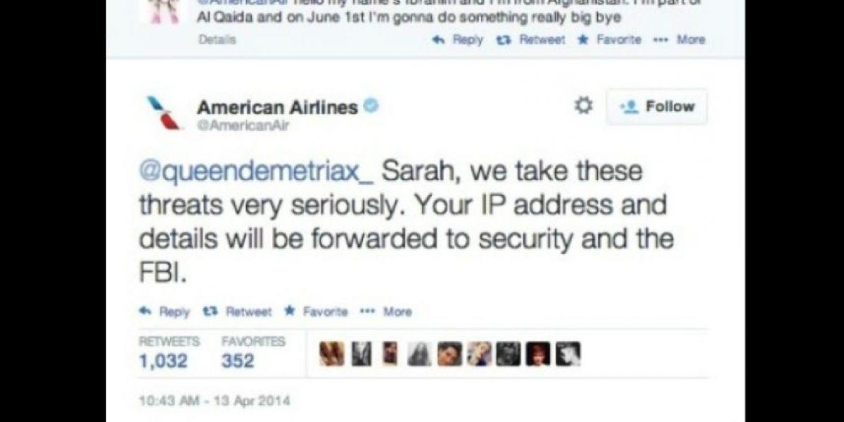 Adolescente bromista envía amenaza de bomba a American Airlines