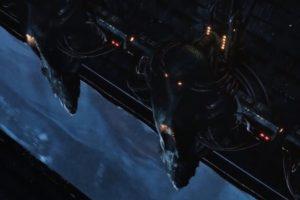 Los centinelas en su transporte. Foto:YouTube / X-Men. Imagen Por: