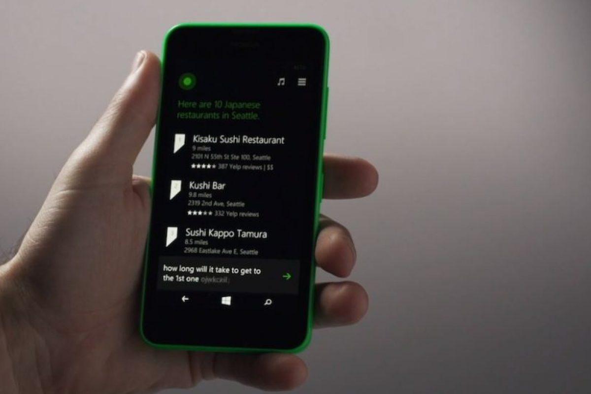 Las direcciones con Cortana. Foto:Windows Phone. Imagen Por: