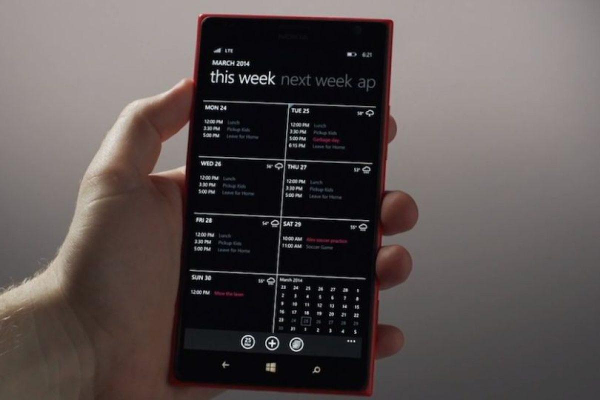 El nuevo diseño del calendario. Foto:Windows Phone. Imagen Por: