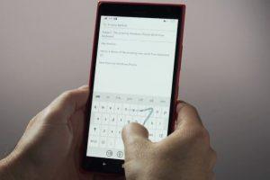 Nueva forma de escribir en el teclado. Foto:Windows Phone. Imagen Por:
