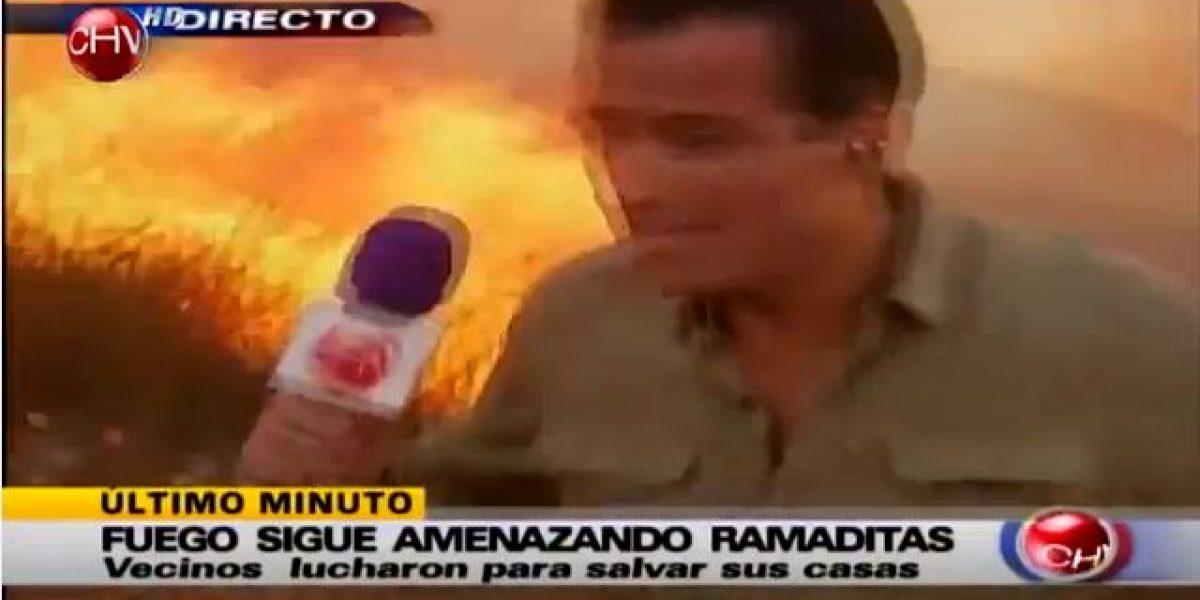 Iván Nuñez estuvo a punto de ser alcanzado por las llamas en pleno despacho