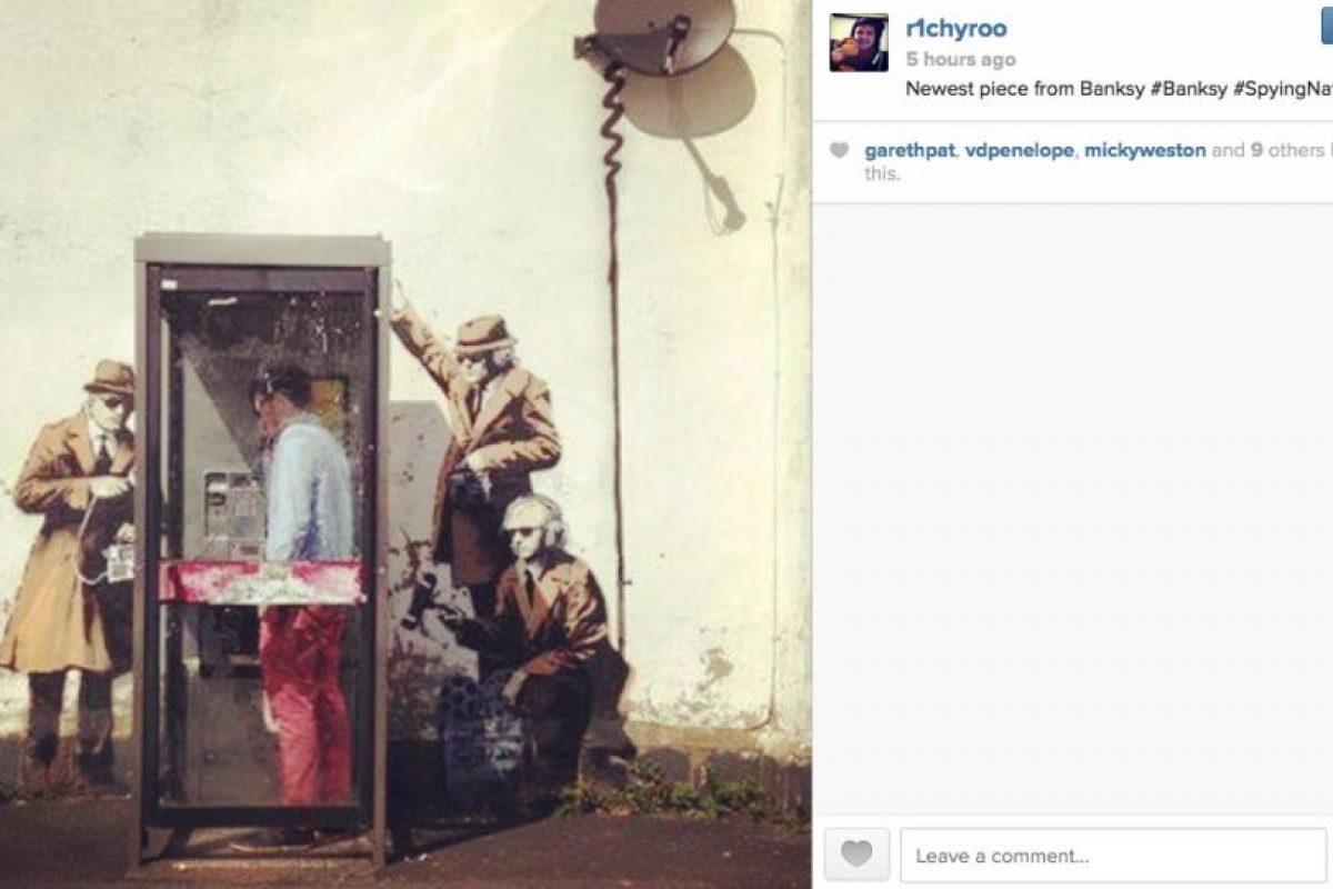 La obra ha sido atribuida por la prensa británica al artista callejero Banksy Foto:Instagram. Imagen Por: