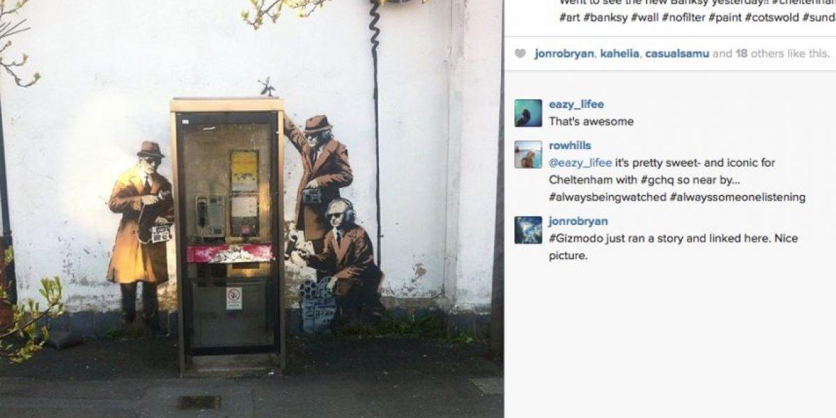 Fotos: Banksy interviene contra el espionaje
