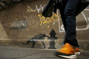 En su momento otros artistas callejeros de la Gran Manzana rechazaron el trabajo del artista británico en las calles de su ciudad Foto:Getty Images. Imagen Por: