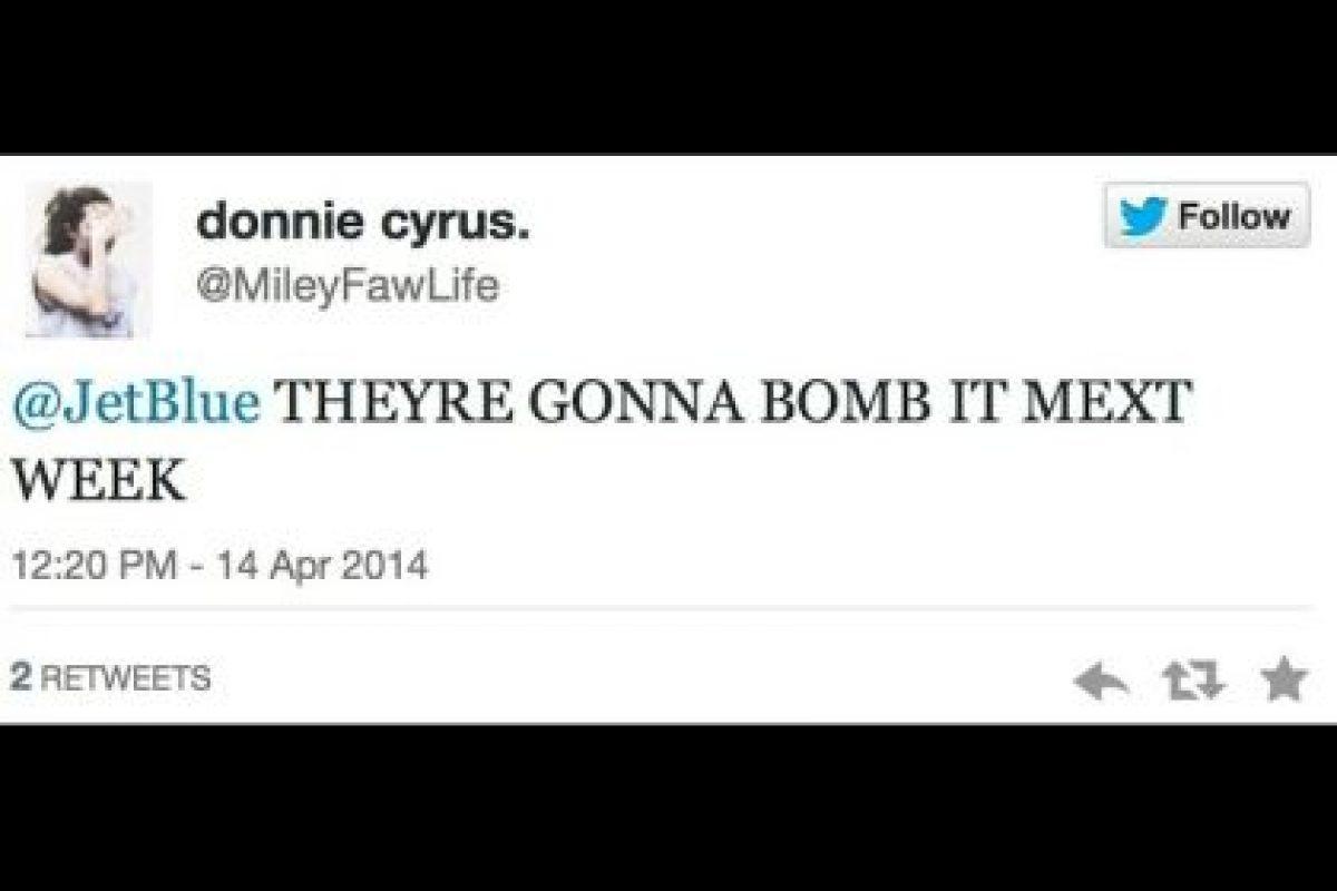 """Colocarán una bomba la próxima semana"". Foto:Captura de pantalla / Twitter. Imagen Por:"