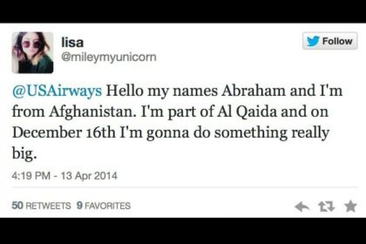 """""""Hola, mi nombre es Abraham y soy de Afganistán. Soy parte de Al Qaida y el 16 de diciembre haré algo muy grande"""". Foto:Captura de pantalla / Twitter. Imagen Por:"""