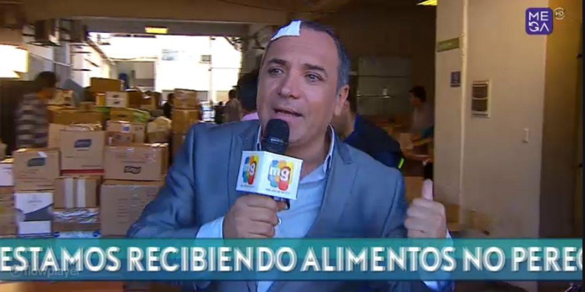 Luis Jara sufre accidente en pleno despacho