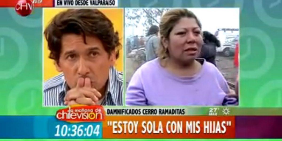 Rafa Araneda no puede contener la emoción al escuchar historia de madre damnificada
