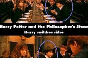 Hermione cambió de lugar. Foto:Moviemistakes.com. Imagen Por: