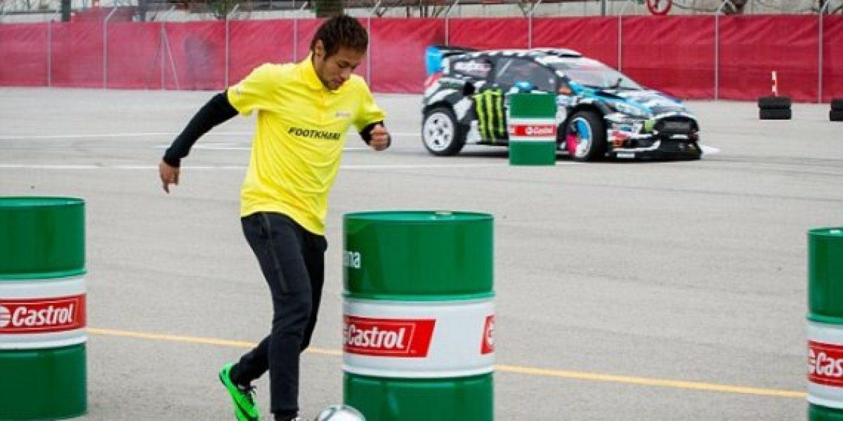 GALERÍA/VIDEO:Neymar Jr v/s el auto de Ken Block