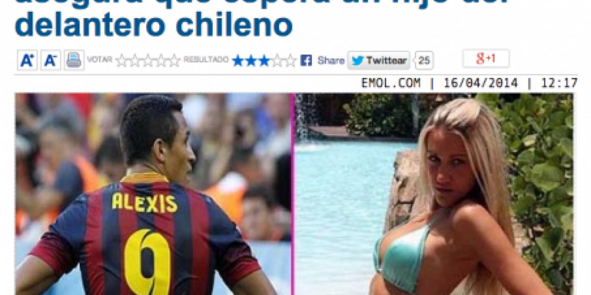 Alexis Sánchez acapara portadas internacionales con noticia de supuesto hijo