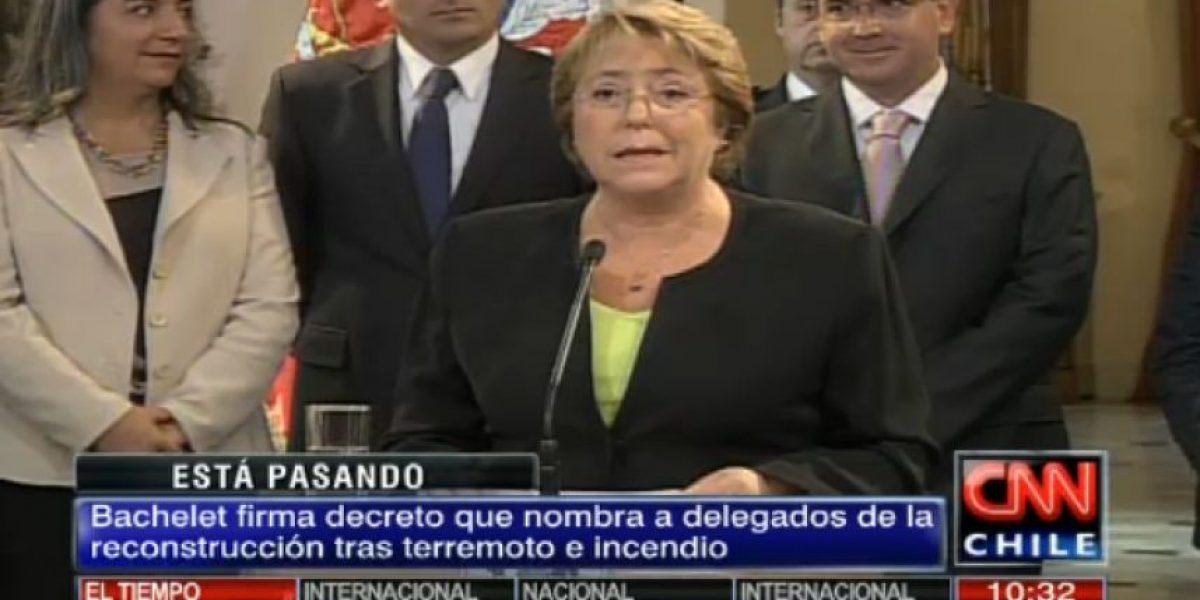 Bachelet nombra delegados para la reconstrucción en Arica y Parinacota, Tarapacá y Valparaíso