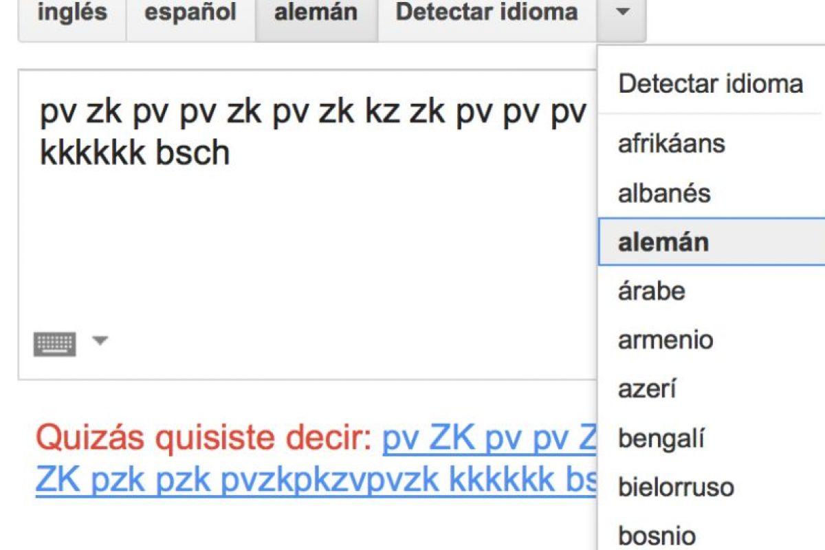 Una simple secuencia en el traductor de Google se puede convertir en beatbox Foto:Captura. Imagen Por: