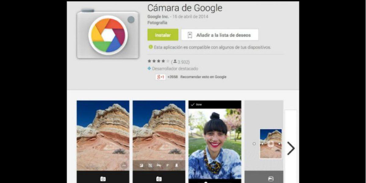 Google lanza su app oficial para tomar fotografías