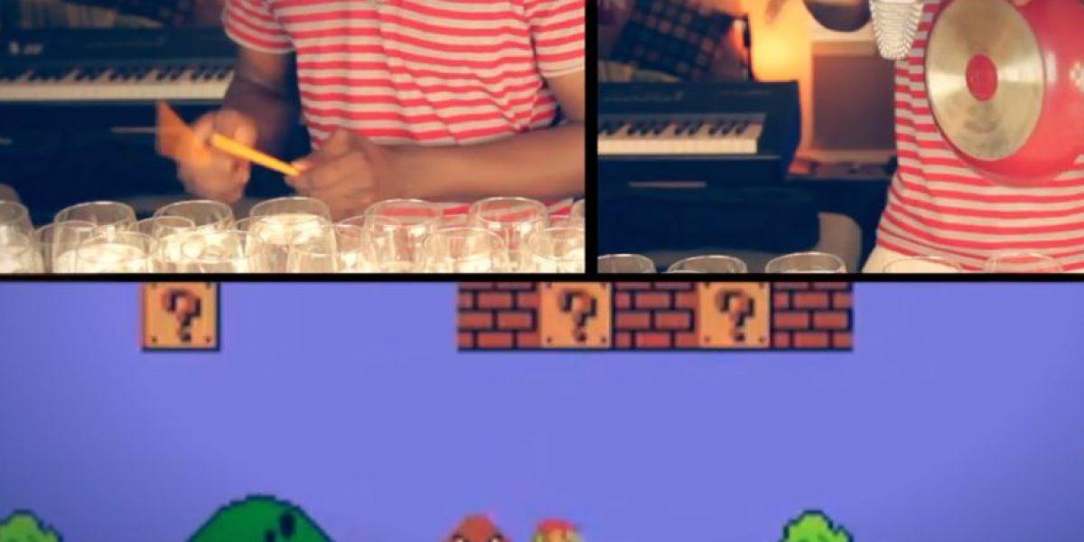 Video: Así suena el tema de Mario Bros interpretado con 48 copas de vino