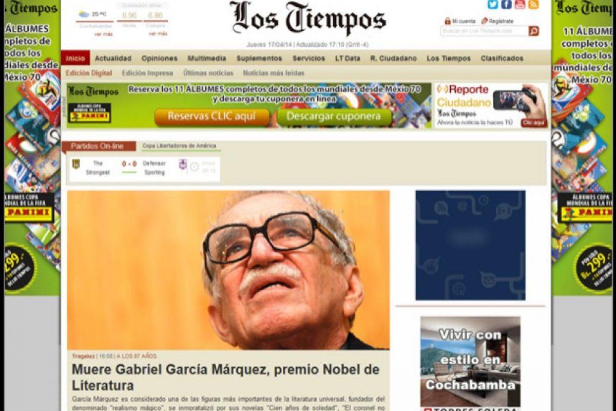 Foto:Los Tiempos. Imagen Por: