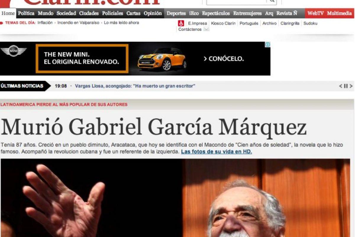 Foto:El Clarín. Imagen Por: