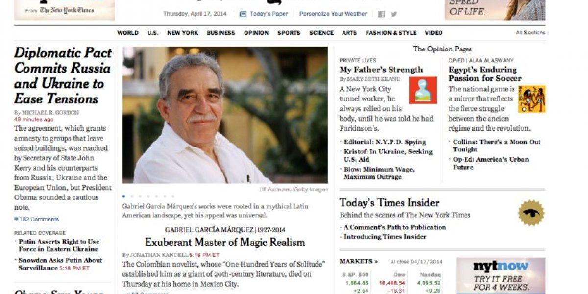 Fotos: Prensa internacional lamenta la muerte de García Márquez