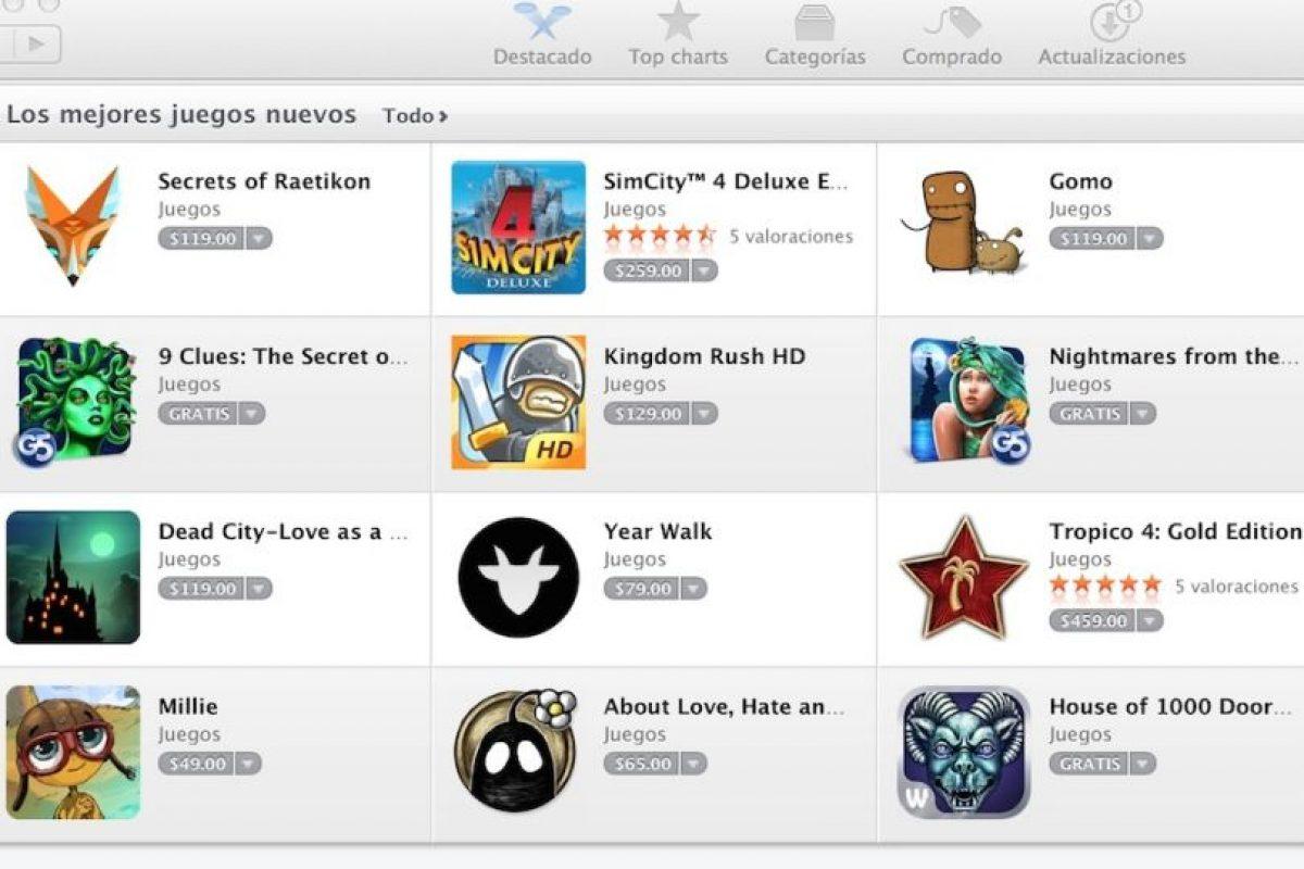 Juegos es la categroría que genera más ganancias. Foto:Apple. Imagen Por: