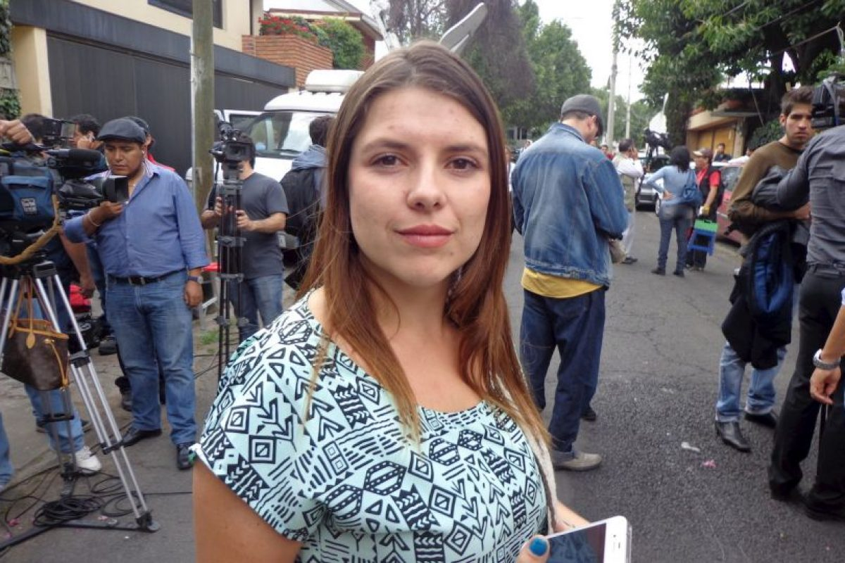 Valeria Hurtado, estudiante colombiana que llegó a la casa del escritor. Foto:Miladys Soto. Imagen Por: