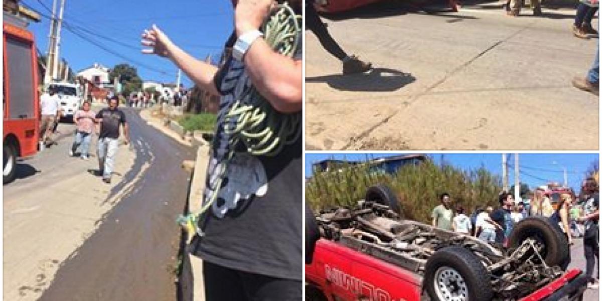 Ex chico reality sufrió accidente ayudando a damnificados en Valparaíso