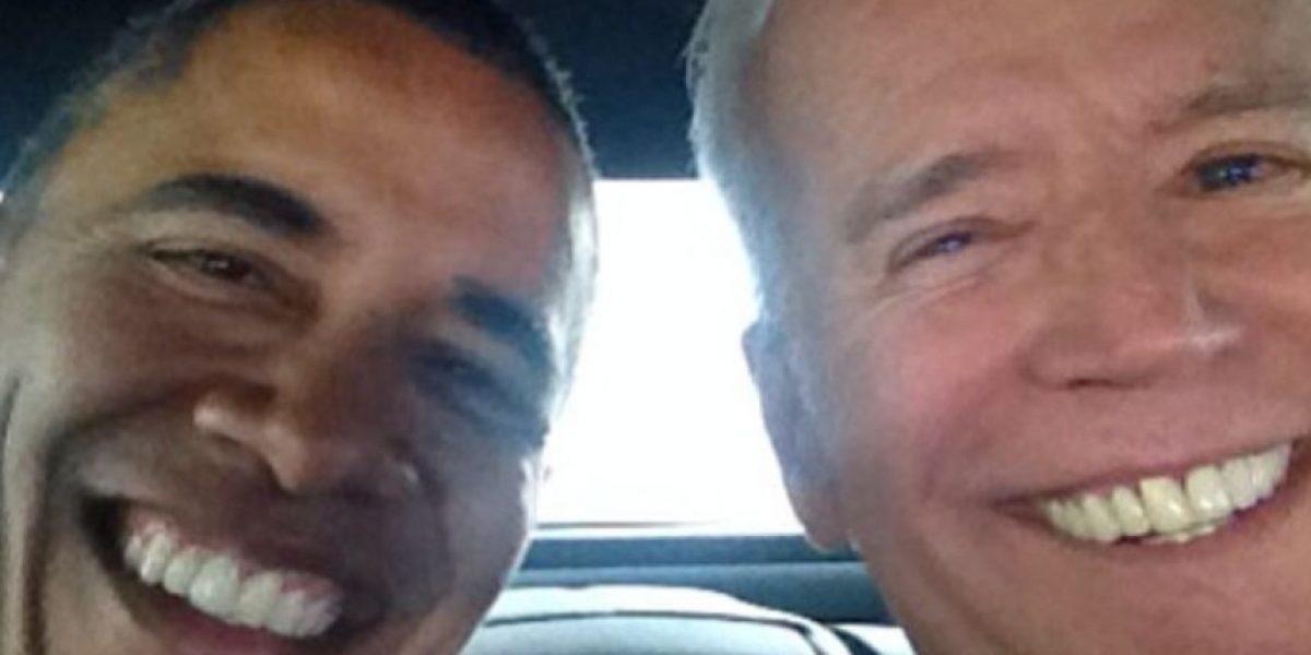 Vicepresidente de Estados Unidos estrena Instagram con selfie con Barack Obama
