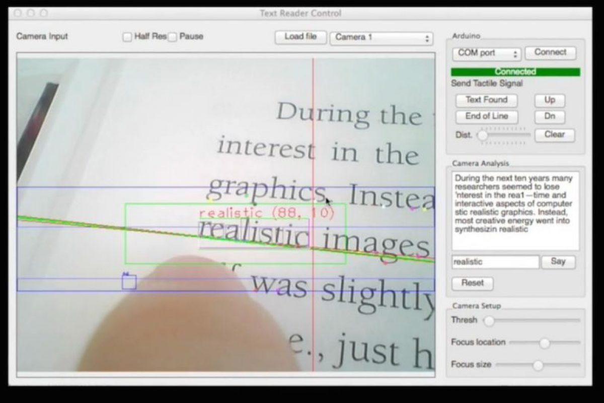 Le dice al usuario cuando está en la línea equivocada. Foto:Fluid Interfaces. Imagen Por: