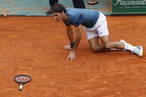 Federer sufrió un incidente. Foto:AFP. Imagen Por: